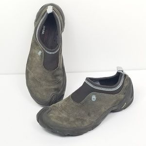 Teva Sport Hiking Shoes Suede Slip On Womens 9.5